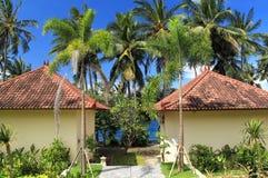 热带的村庄 免版税库存照片