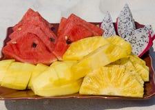 热带的水果沙拉 库存照片