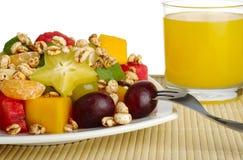热带的水果沙拉 图库摄影