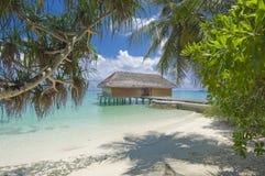 热带的海岛度假村 免版税库存图片