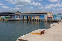 热带的海岛 码头 库存图片