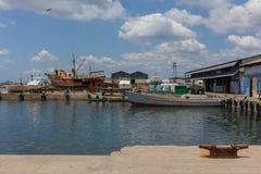 热带的海岛 码头 库存照片