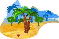 热带的海岛 图库摄影