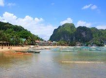 热带的海岛 El Nido 菲律宾 免版税库存图片
