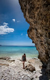 热带的海湾 免版税库存图片