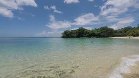 热带的海滩 影视素材