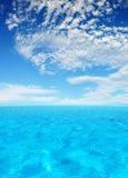 热带的盐水湖 库存图片