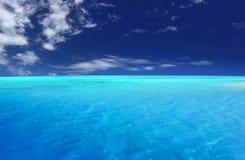 热带的盐水湖 库存照片