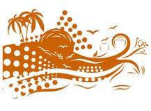 热带的设计 皇族释放例证