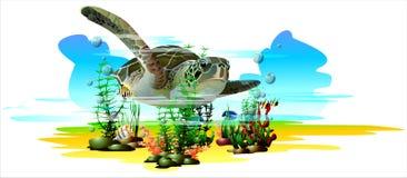 热带的鱼 (传染媒介) 免版税库存照片