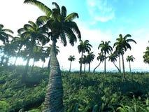 热带的3d 库存图片