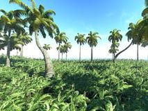 热带的3d 免版税库存照片