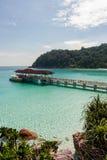 热带盐水湖 库存图片