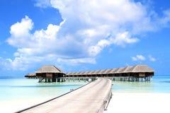 热带盐水湖在马尔代夫 免版税库存照片