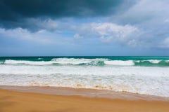 热带看看法,海滩海洋 图库摄影