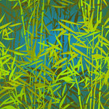 热带竹样式 库存例证