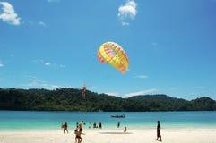 热带美丽的海岛 免版税库存照片