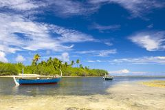 热带美丽的盐水湖 库存照片