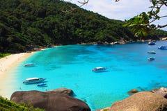热带美丽的色的海运 免版税图库摄影
