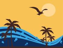 热带背景的夏天 免版税库存照片