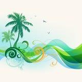 热带背景的夏天 皇族释放例证