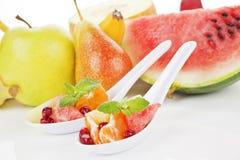 热带背景的果子 免版税图库摄影