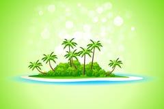 热带背景的海岛 免版税库存图片