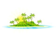 热带背景的海岛 库存照片