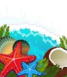 热带背景的海运 免版税库存照片