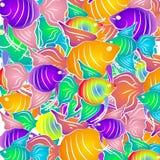 热带背景的鱼 免版税库存图片