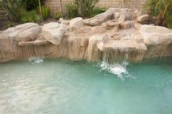 热带自定义的池 免版税图库摄影