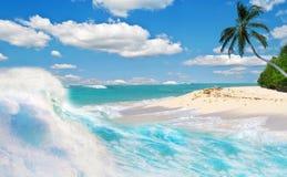 热带节假日的天堂 库存照片