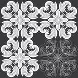 热带花卉雕刻的样式 免版税库存照片