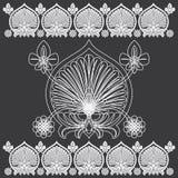 热带花卉雕刻的样式 免版税图库摄影