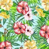 热带花数字式纸 免版税库存图片