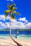 热带逃命-惊人的本质和海滩巴拉望岛,酸碱度 免版税库存图片
