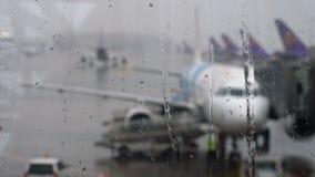 热带雨在机场 股票录像