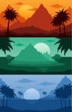 热带风景传染媒介例证 库存例证