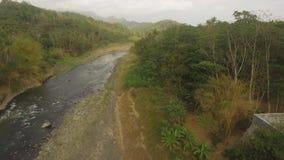 热带风景河,农夫土地 影视素材