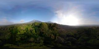热带风景雨林和山vr360 股票录像