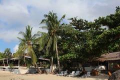 热带风景-海滩小屋 库存图片