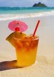 热带饮料的maitai 免版税图库摄影