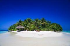 热带马尔代夫的天堂 库存照片