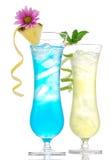 热带马蒂尼鸡尾酒世界性鸡尾酒蓝色夏威夷人 图库摄影