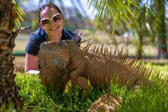 热带鬣鳞蜥画象  库存照片