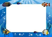 热带鱼动画片例证 免版税库存照片