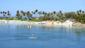 热带巴哈马手段海滩时间间隔  影视素材