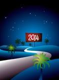 热带2014年在晚上 库存图片