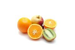 热带水果和苹果 免版税库存照片
