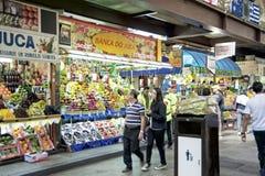 热带水果在圣保罗主要市场上 免版税图库摄影